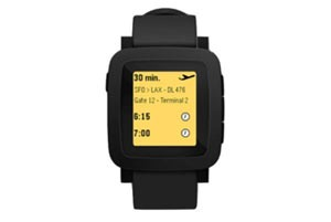 لو رفتن تصویری از ساعت هوشمند پبل با نمایشگر رنگی